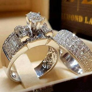 Silver Color Jewelry Engagement Rings for Woman