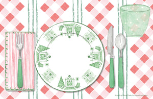 The Perfect Place Setting Christmas Placemat - a collaboration with Etiquette with Amy