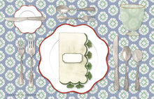 Load image into Gallery viewer, The Perfect Place Setting Christmas Placemat - a collaboration with Etiquette with Amy