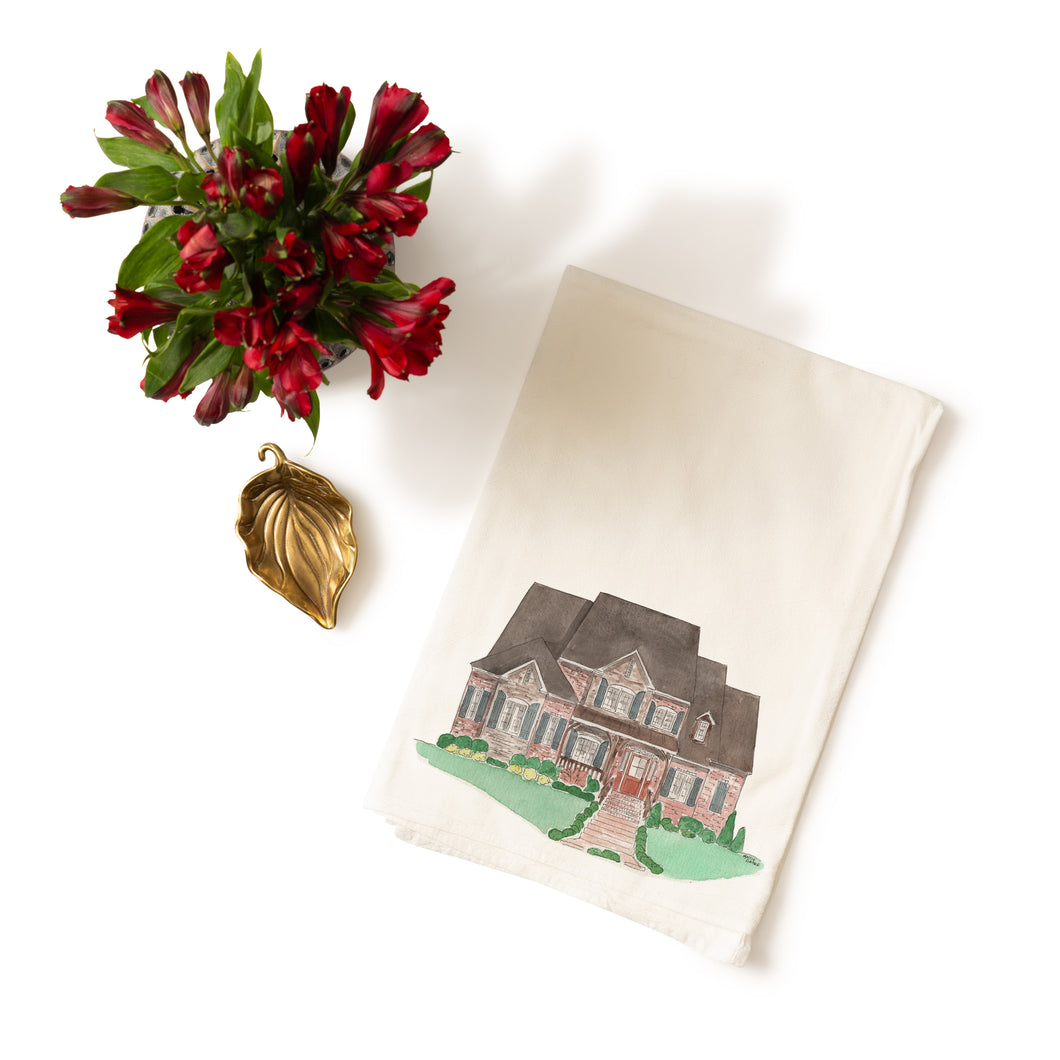 House Portrait Dishtowel - ADD ON PRODUCT