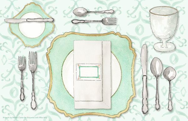 The Perfect Place Setting Placemat - a collaboration with Etiquette with Miss Amy