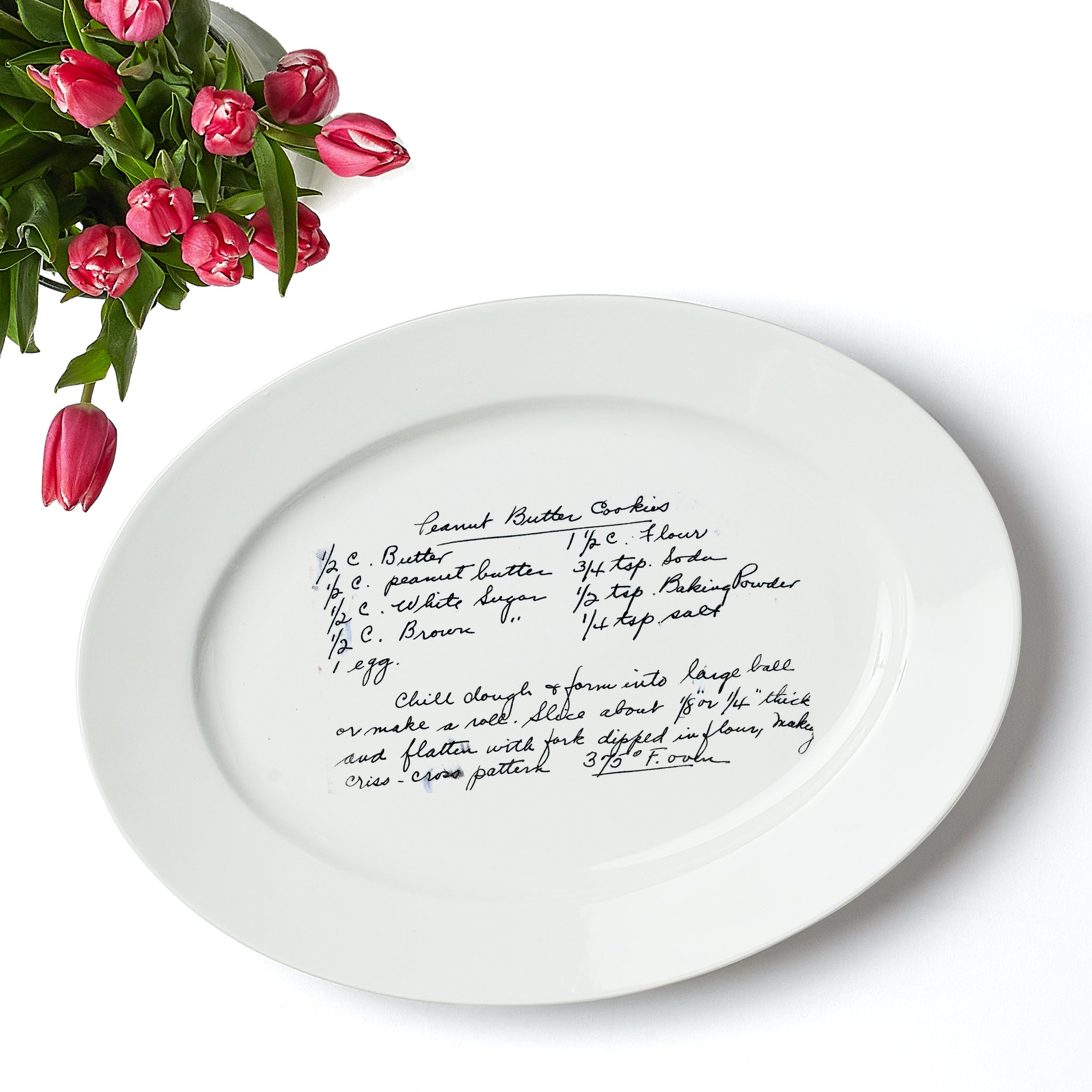 Custom Heirloom Recipe Oval Platter