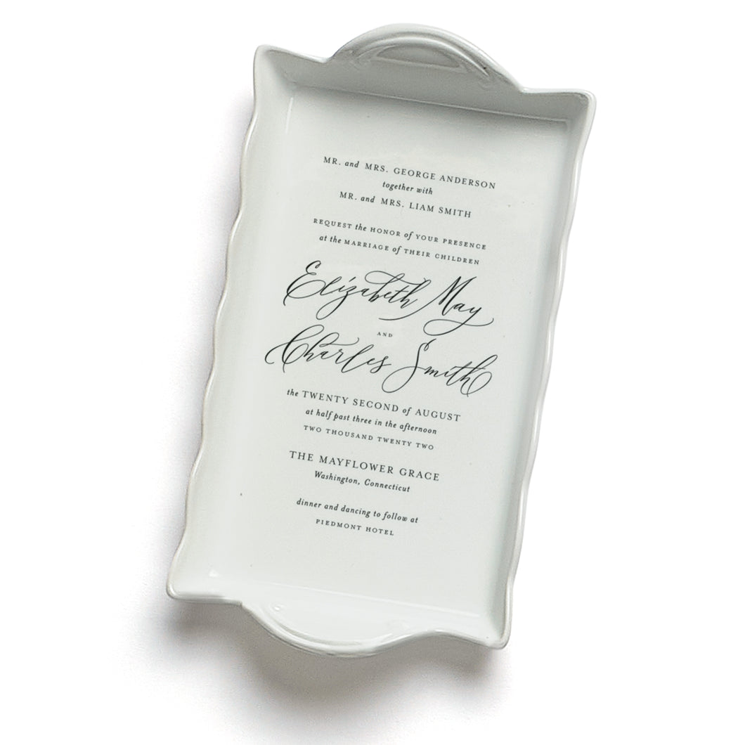 Wedding Invitation Ruffle Tray