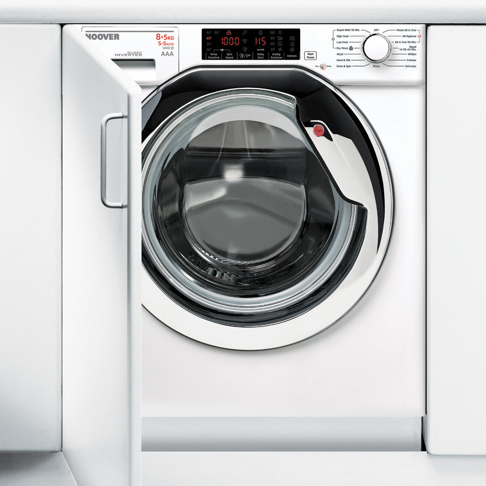 Hoover HBWD 8514TAHC-80 Washer Dryer 8/5kg 1400spin A rated White