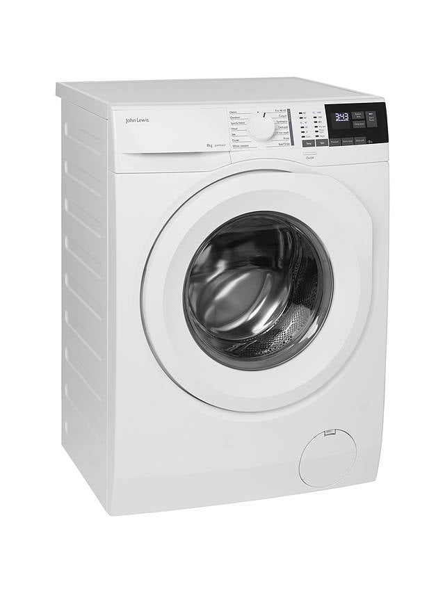 John Lewis & Partners JLWM1417 Freestanding Washing Machine,8kg, A+++,1400rpm,White