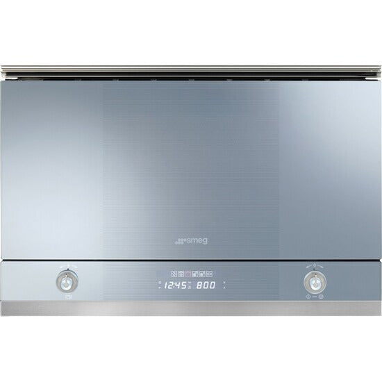 Smeg MP122 Microwave Grill Linea Built-in Silver Glass 22L 32cm Depth RRP£629