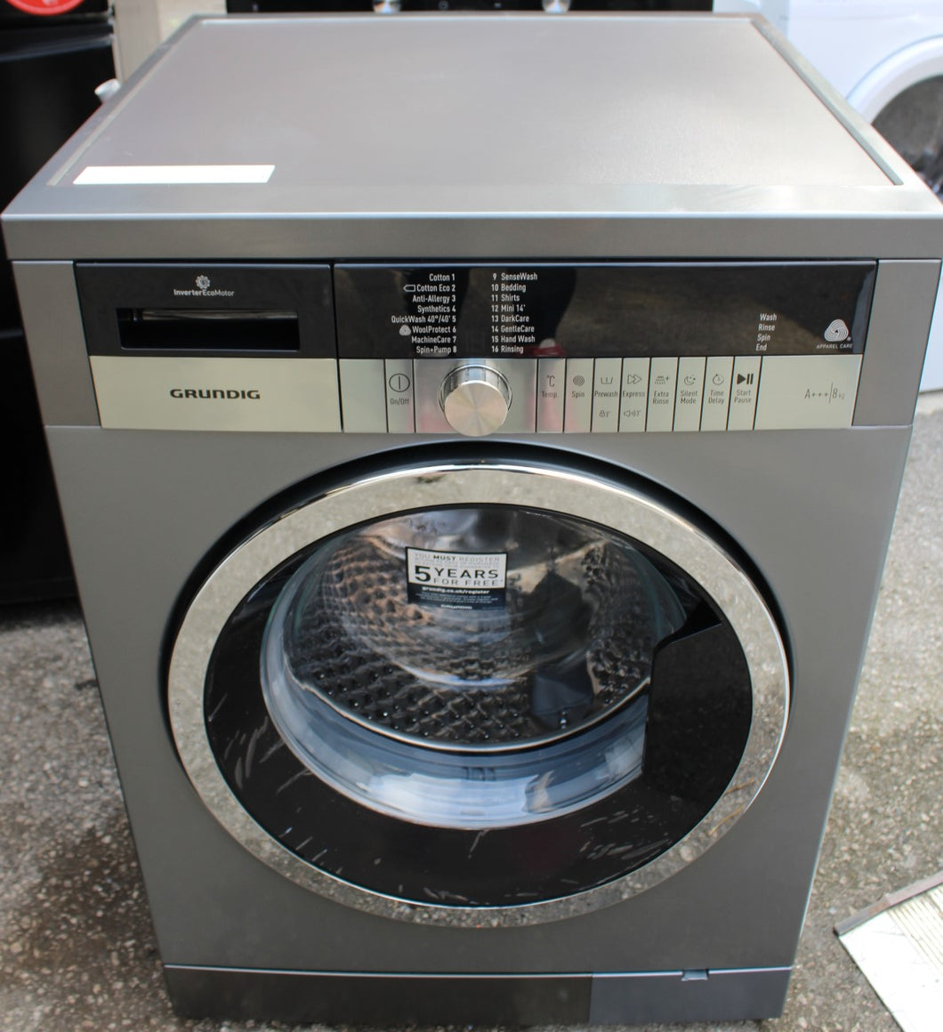 GRUNDIG GWN48430CG 8kg 1400Spin A+++ Washing Machine Graphite RRP£429.99