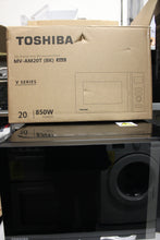 Load image into Gallery viewer, Toshiba MV-AM20T(BK) 800w 20L Microwave Oven, 12 Cooking Presets,A rated Black RRP£140.99