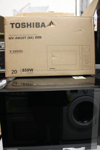 Toshiba MV-AM20T(BK) 800w 20L Microwave Oven, 12 Cooking Presets,A rated Black RRP£140.99