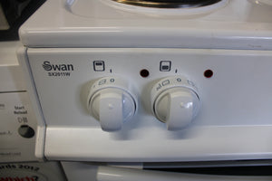 Swan Sx2011W 50Cm Wide Freestanding Twin Cavity Electric Cooker White RRP£259.99