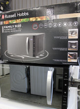 Load image into Gallery viewer, Russell Hobbs RHFM2363B 23L 800W Flatbed Digital Microwave Oven Black RRP£159