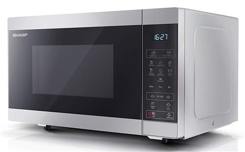 Sharp YC-MS51U-S 25L 900W Freestanding Microwave Oven - Silver