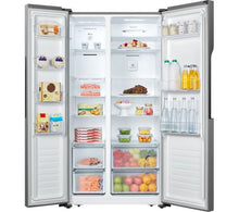 Load image into Gallery viewer, LOGIK LSBSX20 American-Style 334LFridge 185LFreezer Inox RRP£529.99