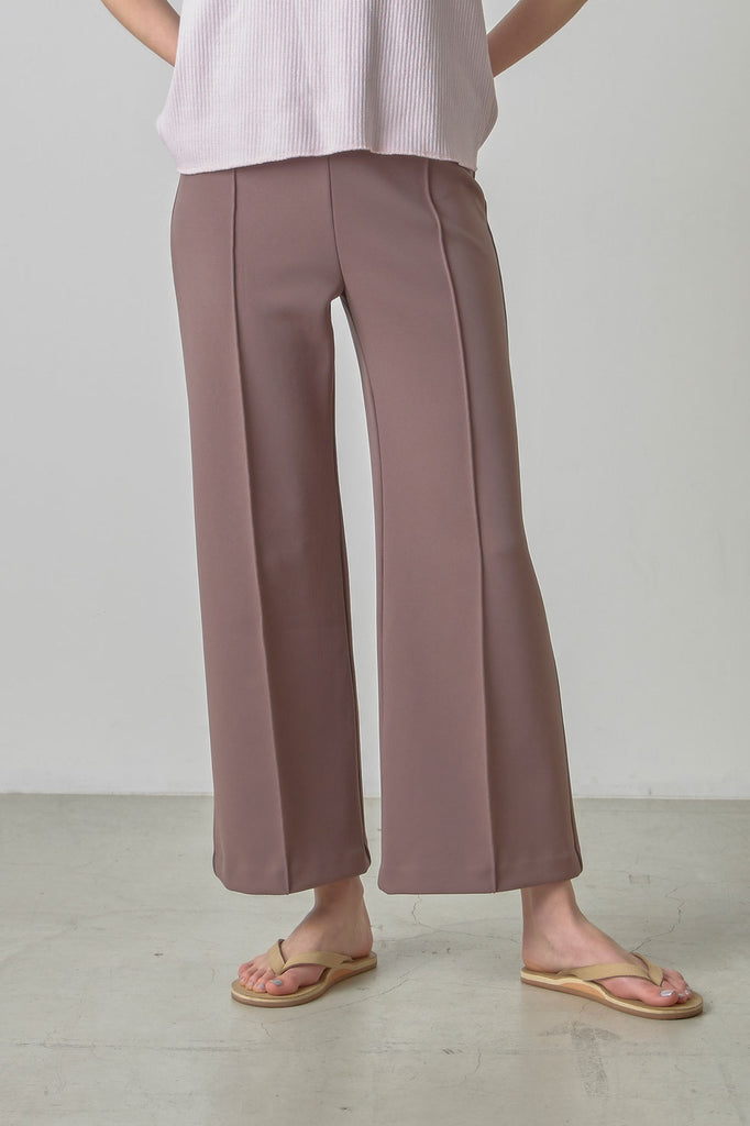 Poly easy flare pants