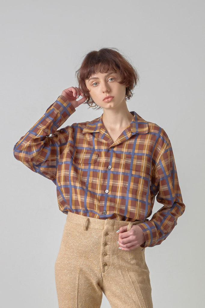 Sheer check shirt