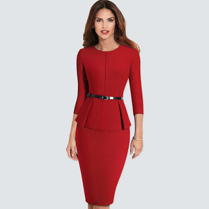 AMBER - Autumn Formal Business Pencil Dress