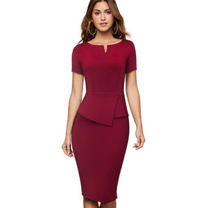 ANNE - Vintage Elegant Wear Business Office Dress