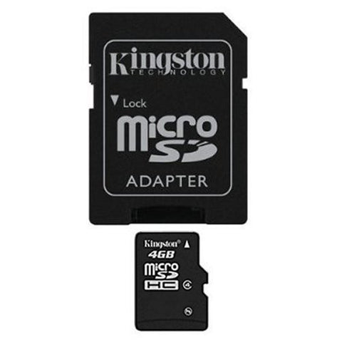 4 GB microSDHC Class 4 Flash Memory Card