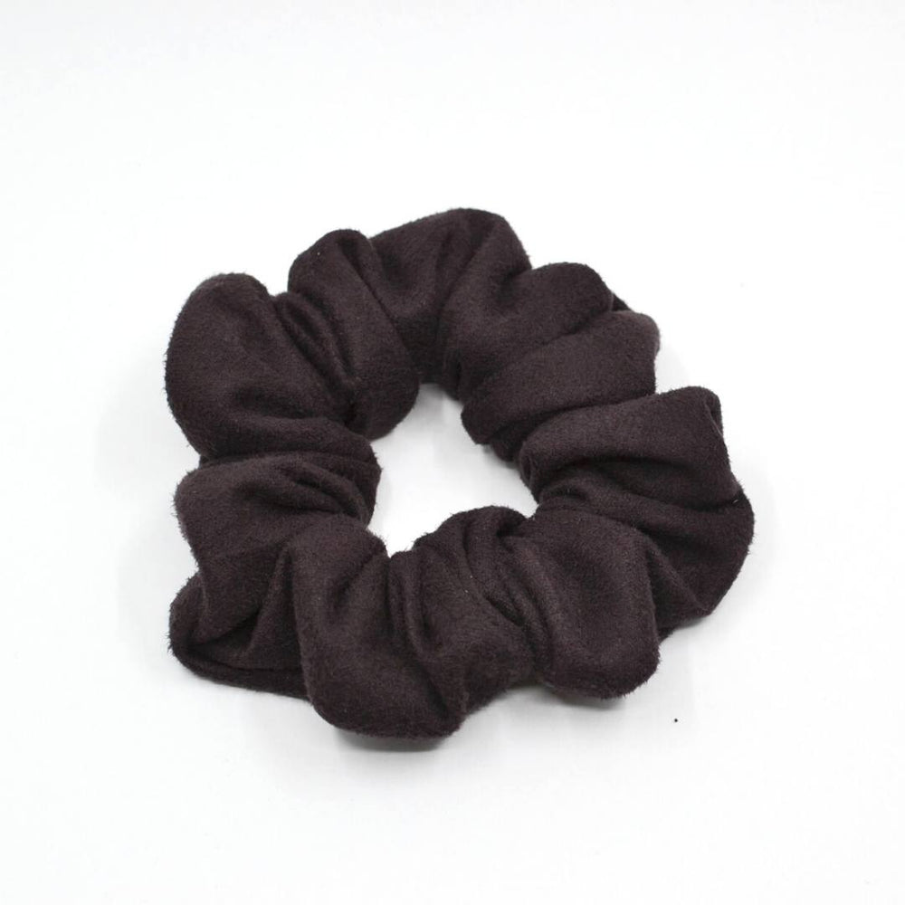 Chocolate Brown Suede Scrunchie