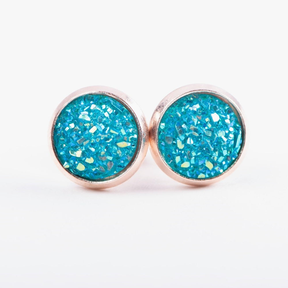 Turquoise Druzy Earrings