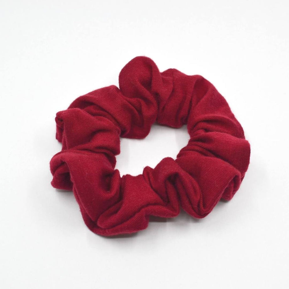 Ruby Red Knit Scrunchie