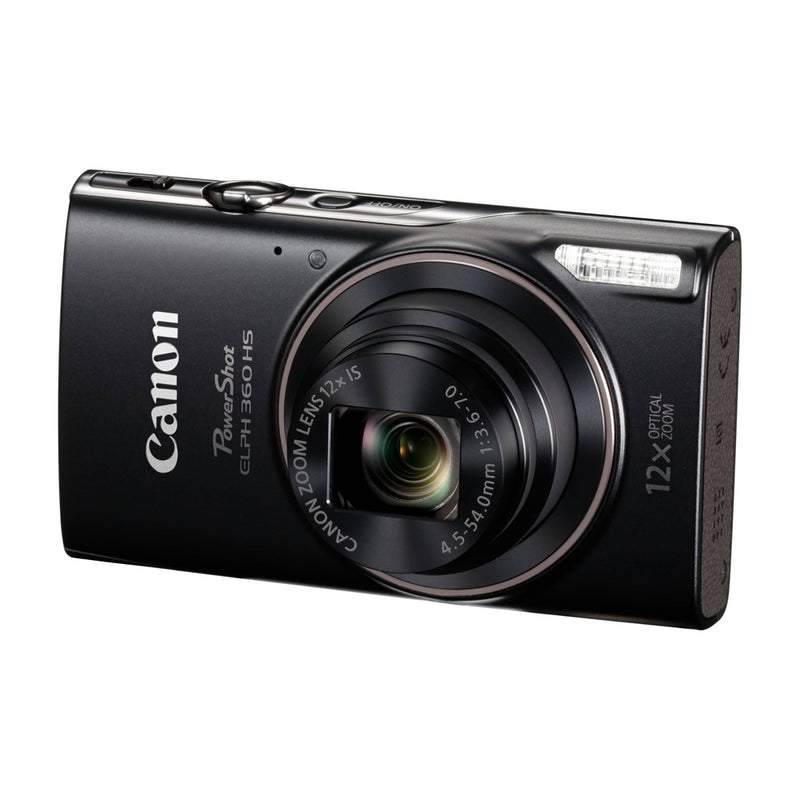 Canon PowerShot ELPH 360 HS Cámara Digital | 20.2MP | Full HD | Negro