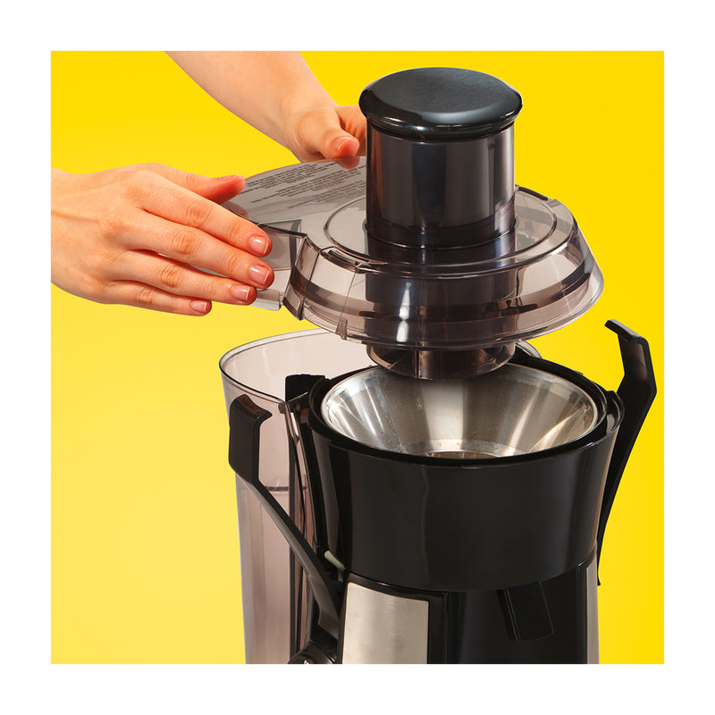 Hamilton Beach Extractor de Jugo Big Mouth® | Colector de Pula XL | 800W | Negro