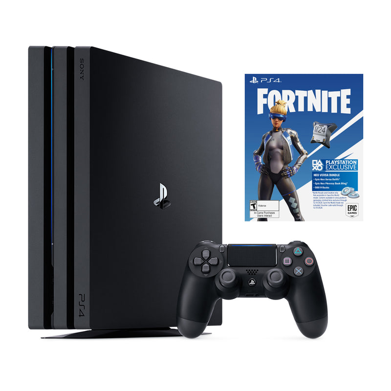 PlayStation 4 Pro 1TB Bundle con Paquete Fortnite Neo Versa | 4K HDR