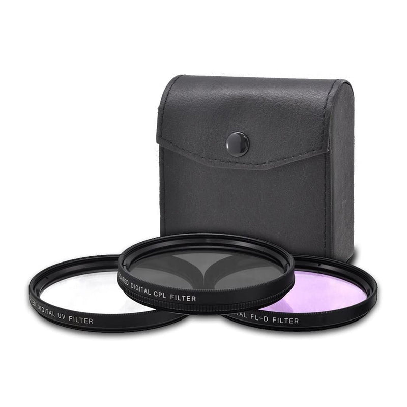 Vidpro Kit de 3 Filtros | 52mm | UV, CPL, FLD | Estuche