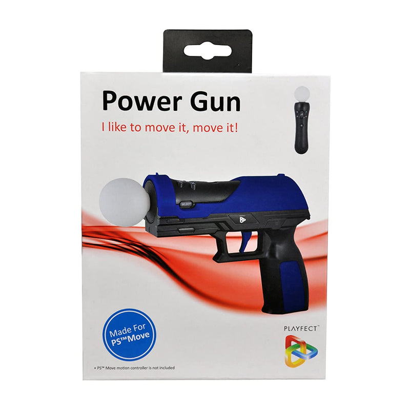 Playfect Power Gun Accesorio de Arma de Fuego Para Playstation Move