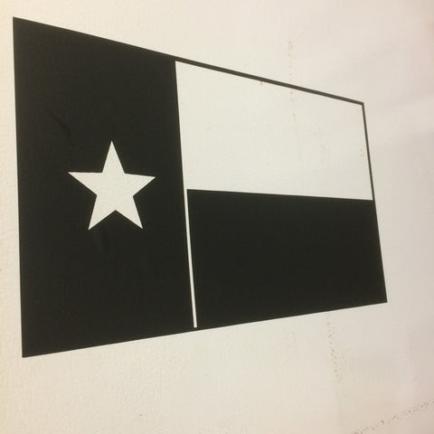 Texas Flag (Matte black)