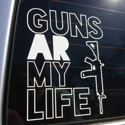 Guns AR My Life Decal