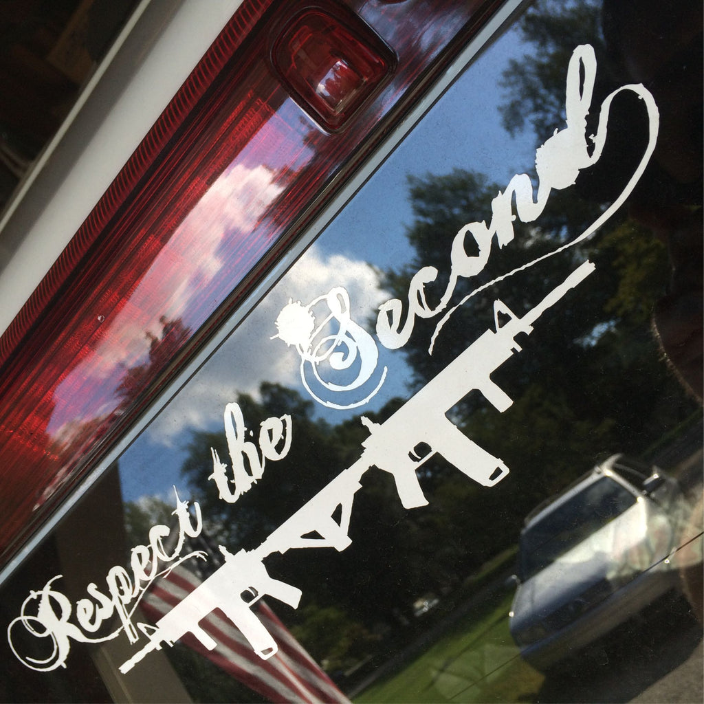 Respect the 2nd Double Gun Decal