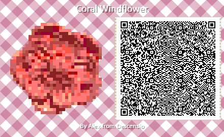 Coral Windflower QR Code for ACNH