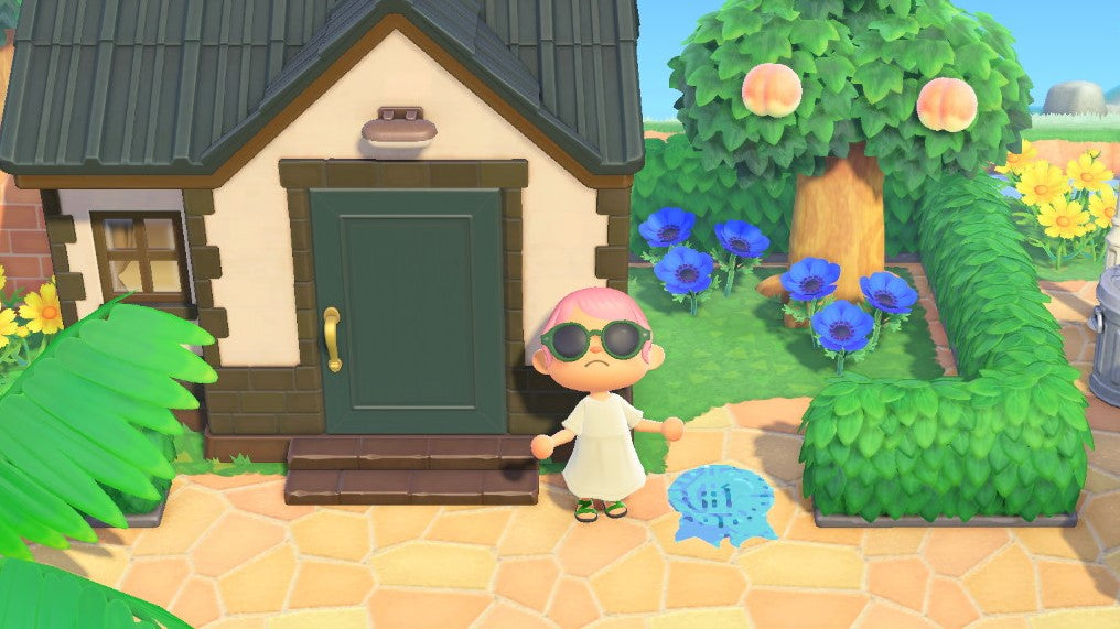 Number 1 Ribbon Styklet next to Tex's house in Animal Crossing