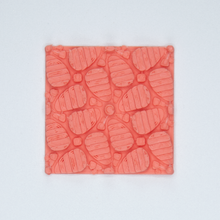 Load image into Gallery viewer, A floral patterned 3D sticker from Styklet in coral.