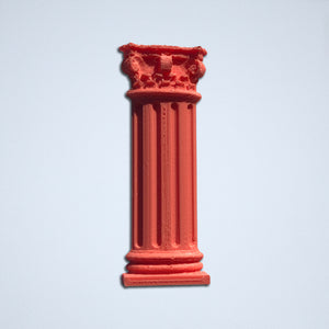 The Corinthian column sticker from Styklet in coral.