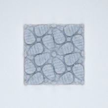 Load image into Gallery viewer, A floral patterned 3D sticker from Styklet in gray.