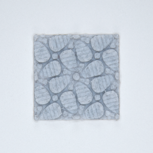 A floral patterned 3D sticker from Styklet in gray.