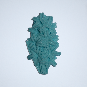 A 3D sticker of a hyacinth in turquoise from Styklet.