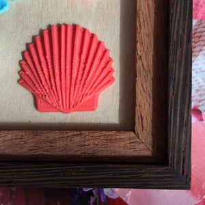 Seashell 3D Stickers - 4 Colors Available
