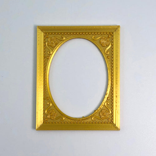 A gold neoclassical frame 3D sticker from Styklet.