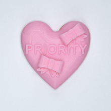 "Load image into Gallery viewer, Pink candy heart sticker from Styklet with the text ""Priority."""
