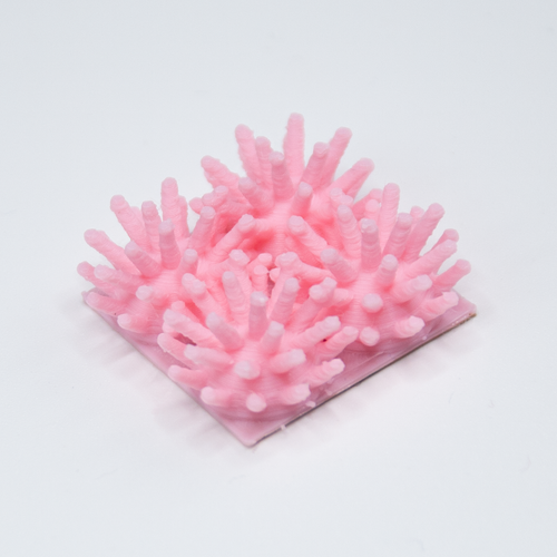 A pink Sea Urchin Quad 3D sticker by Styklet.