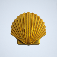 Load image into Gallery viewer, A gold Seashell 3D sticker by Styklet.