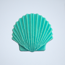 Load image into Gallery viewer, A turquoise Seashell 3D sticker by Styklet.