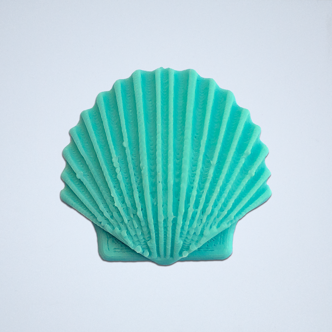 A turquoise Seashell 3D sticker by Styklet.