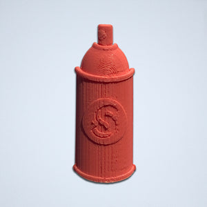A coral Spray Can 3D sticker by Styklet.