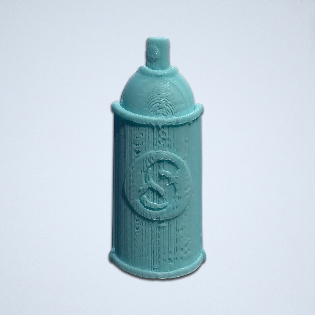 A turquoise Spray Can 3D sticker by Styklet.