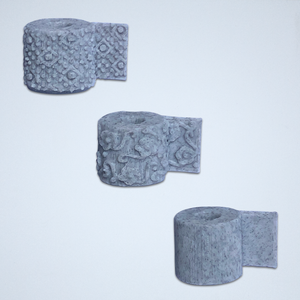 Toilet Paper 3D Stickers -  Set of 3 Textures